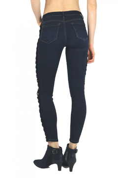 Tractr Side Lace-up Ankle Crop Jean - Alternate List Image