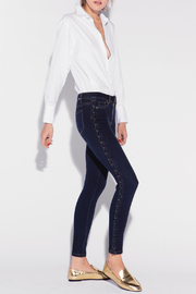 Tractr Side Lace-up Ankle Crop Jean - Product Mini Image