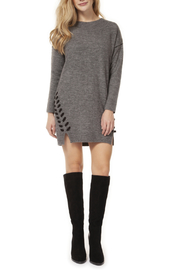 Dex Side Lace Up Detail Sweater Dress - Product Mini Image