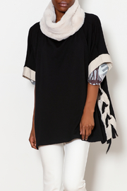 CAPOTE Side Lace up Poncho - Product Mini Image