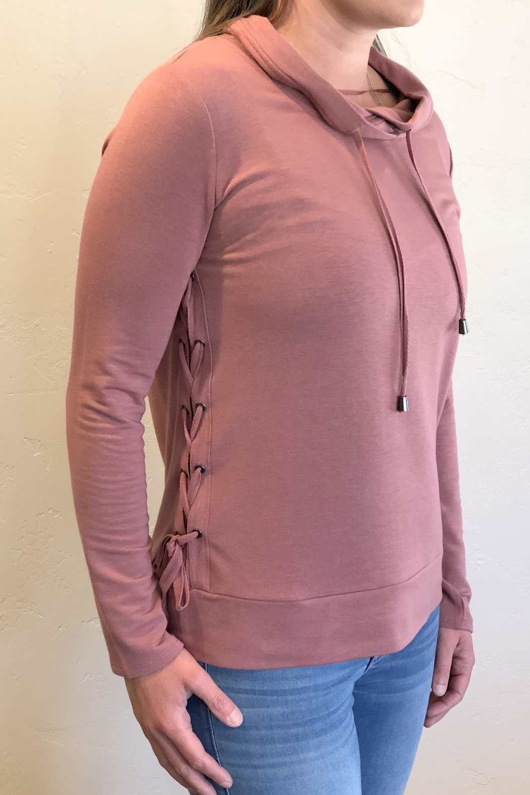 Keren Hart Side Laced Sweater - Front Full Image