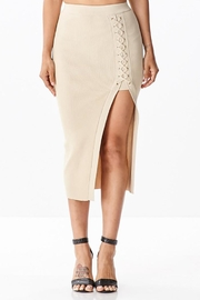 hera collection Side Lattice Midi-Skirt - Front cropped
