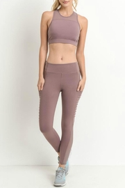 Mono B Side Mesh Capri Leggings w Pockets - Product Mini Image
