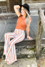 SAINTS & HEARTS  Side Of Sass Striped Bellbottoms - Product Mini Image