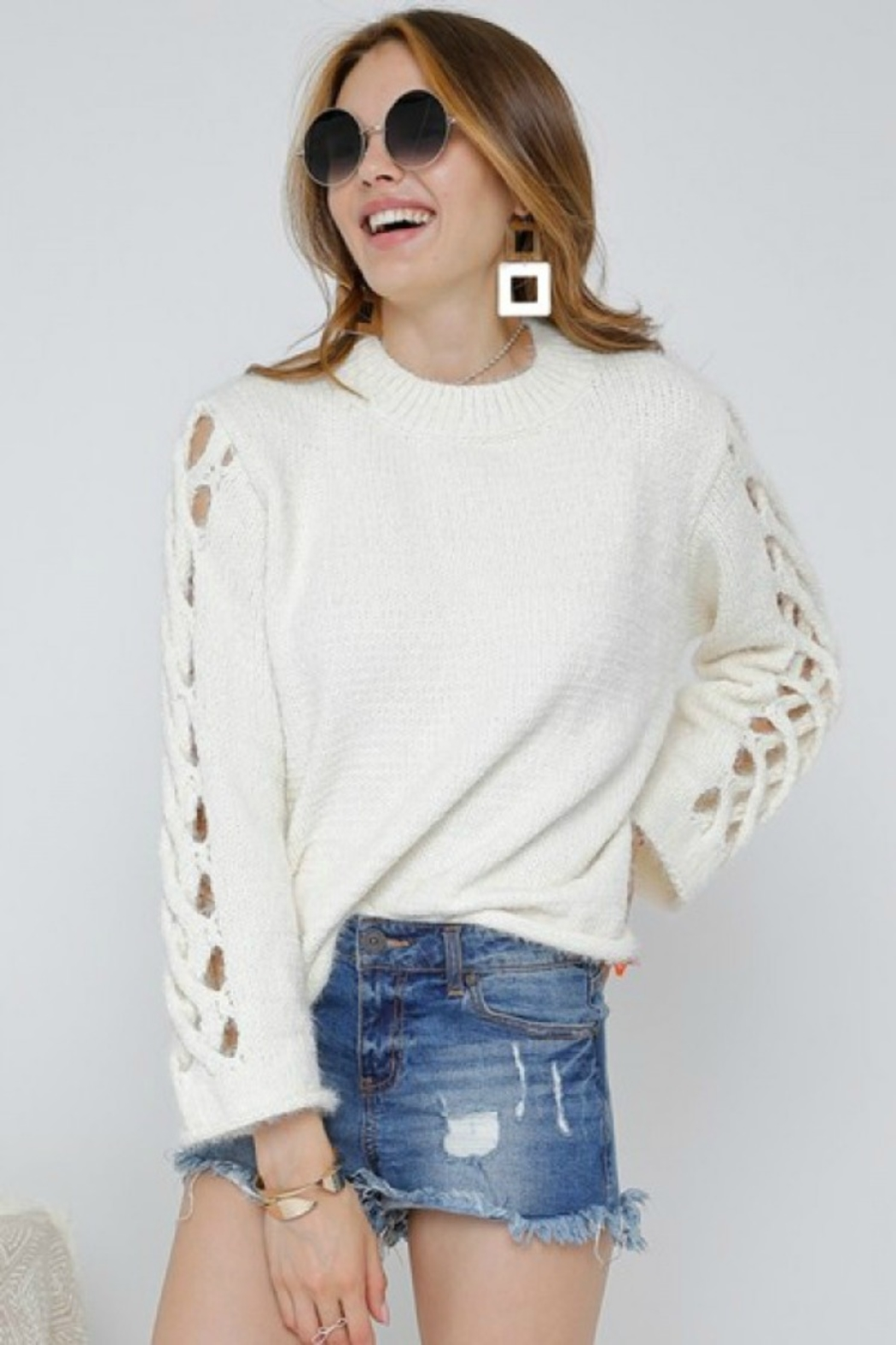 Adora SIDE OUT SWEATER - Front Cropped Image