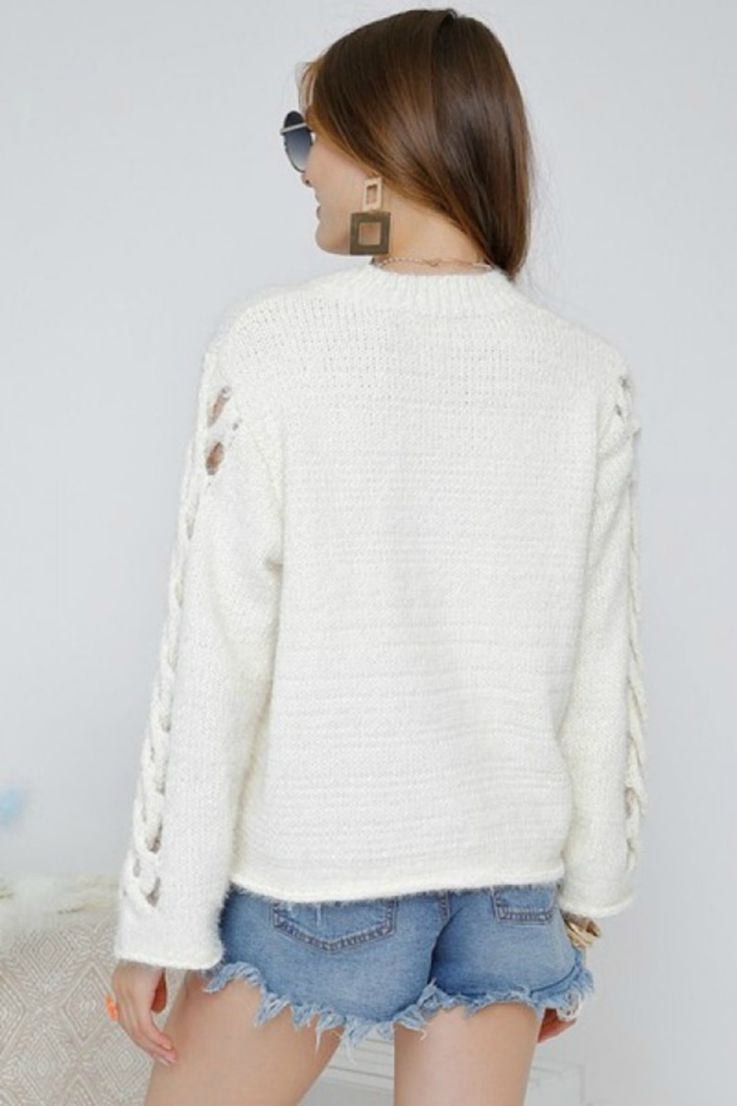Adora SIDE OUT SWEATER - Side Cropped Image