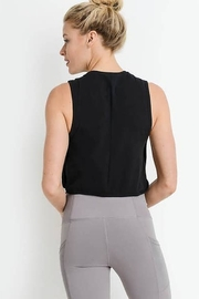 Mono B Side Overlay Crop Supima Cotton Tank Top - Back cropped