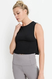 Mono B Side Overlay Crop Supima Cotton Tank Top - Side cropped