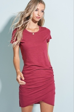 LA MIEL  Side Rouche Tee Shirt Dress - Product List Image