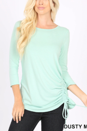 Lyn -Maree's Side Ruche Top - Front cropped