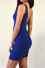 Uptown Side Ruched Dress - Front full body