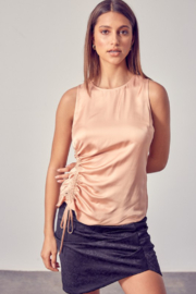 Do + Be  Side Ruched Top - Product Mini Image