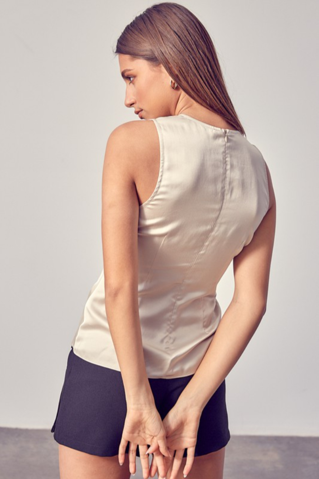 Do + Be  Side Ruched Top - Side Cropped Image