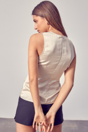 Do + Be  Side Ruched Top - Side cropped