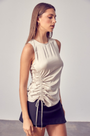 Do + Be  Side Ruched Top - Front full body