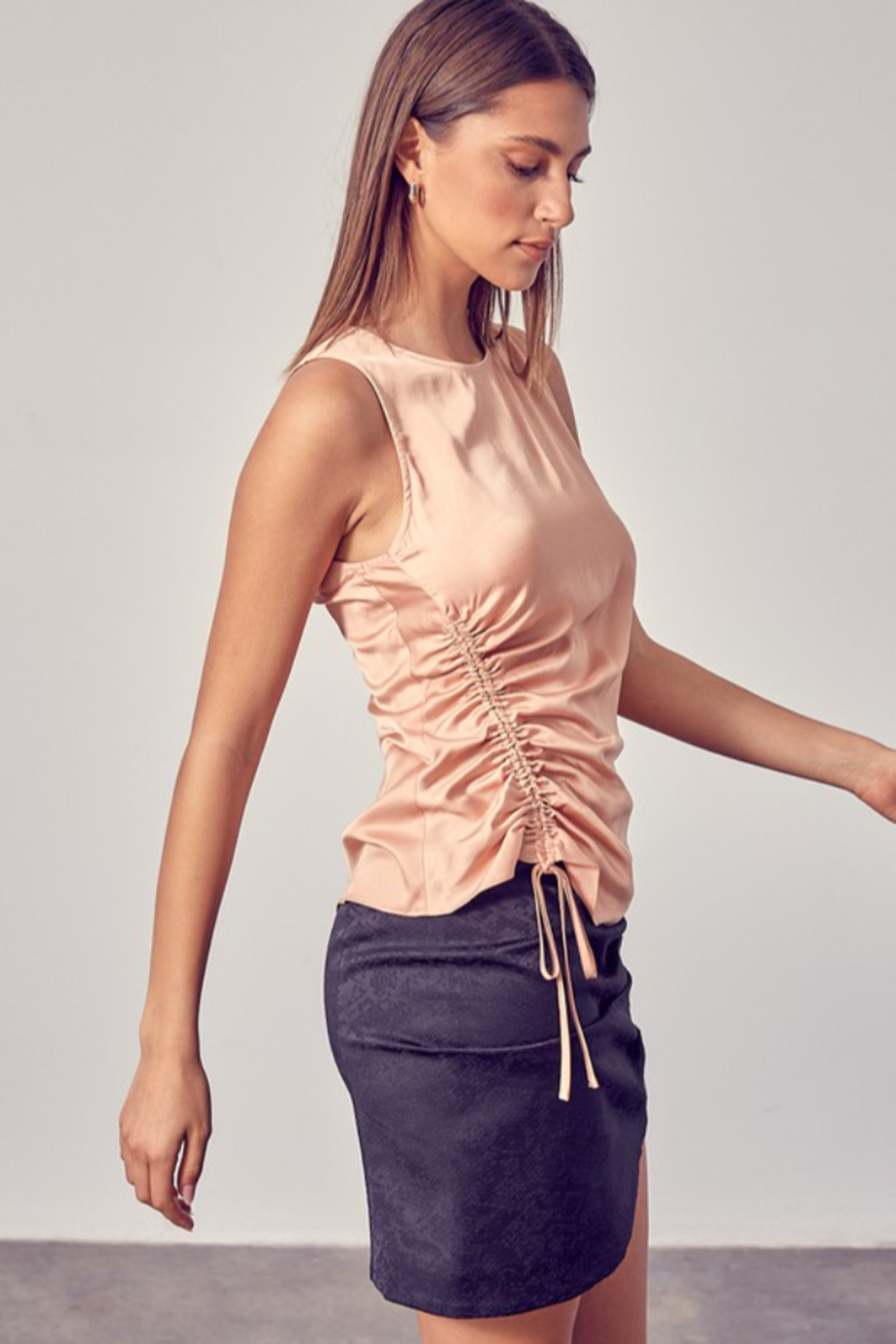Do + Be  Side Ruched Top - Front Full Image