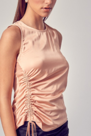 Do + Be  Side Ruched Top - Back cropped