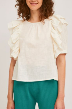 Compania Fantastica Side Ruffle Blouse - Product List Image