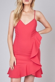 Do & Be Side Ruffle Cocktail Dress - Product Mini Image