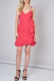 Do & Be Side Ruffle Cocktail Dress - Back cropped