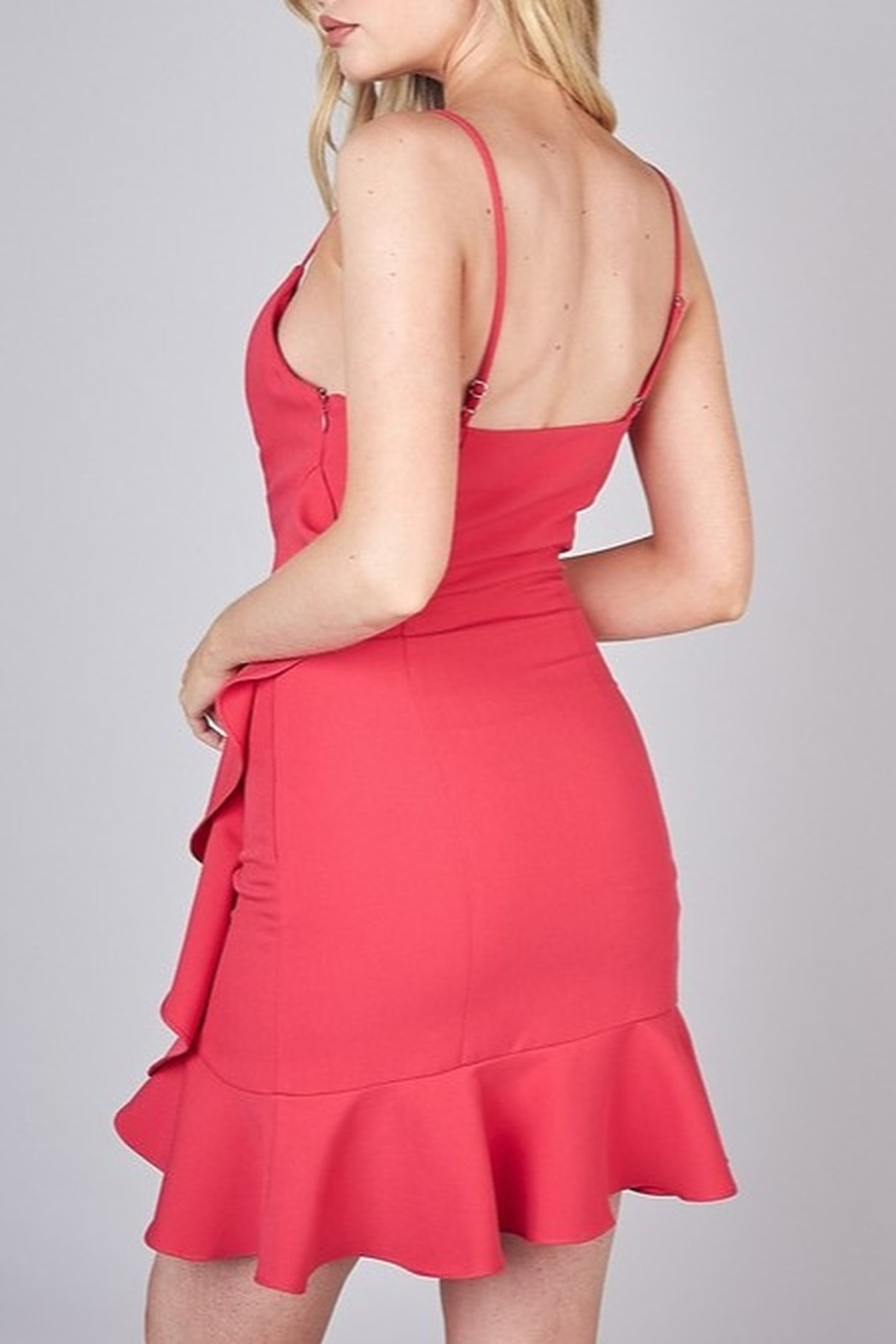 Do & Be Side Ruffle Cocktail Dress - Side Cropped Image