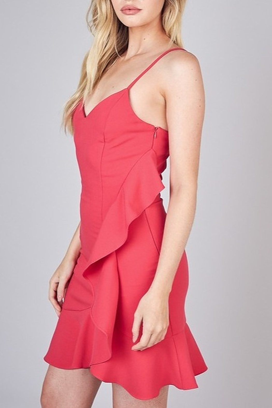 Do & Be Side Ruffle Cocktail Dress - Front Full Image
