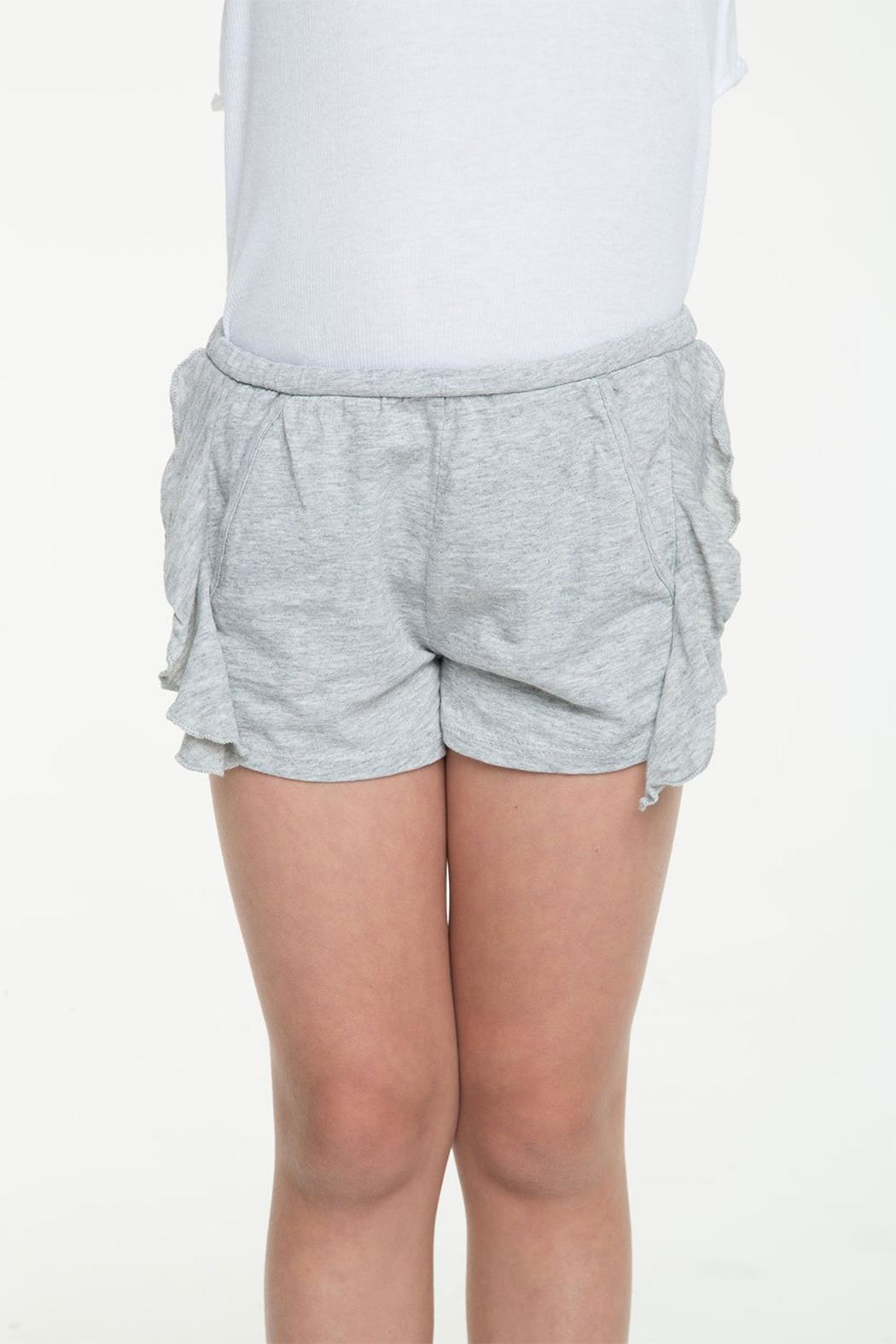 Chaser Side Ruffle Shorts - Front Cropped Image