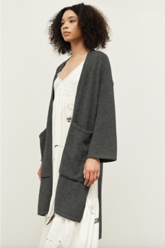 Grade and Gather Side Slit Cardigan - Product List Image