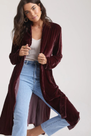 Bella Dahl  Side Slit Coat - Front cropped