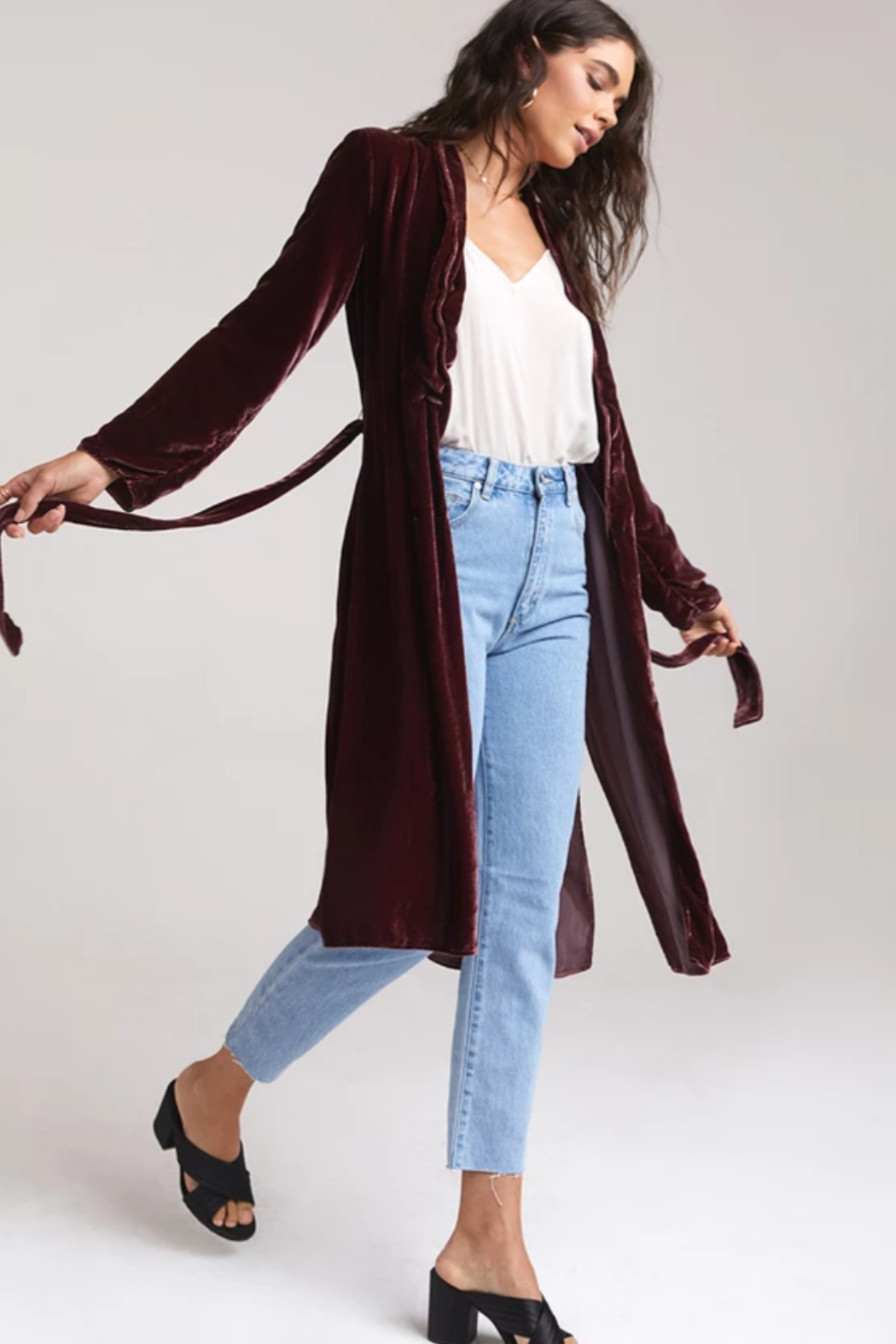 Bella Dahl  Side Slit Coat - Front Full Image