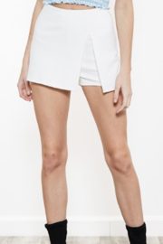 blue blush Side Slit Knit Skort - Product Mini Image
