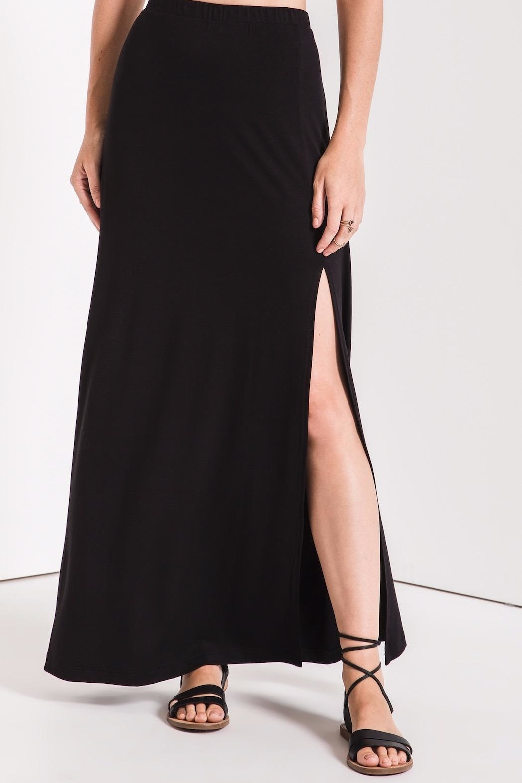 z supply Side Slit Maxi - Side Cropped Image