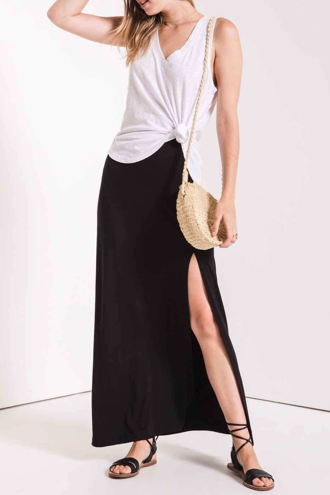 z supply Side Slit Maxi - Front Cropped Image