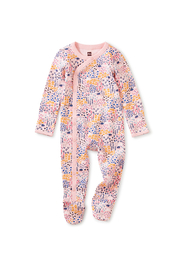 Tea Collection Side Snap Footed Romper - Rainbow Forest - Product Mini Image