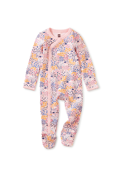 Shoptiques Product: Side Snap Footed Romper - Rainbow Forest