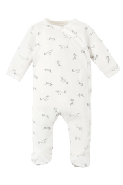 Under the Nile Side Snap Footie Stork Print - Product Mini Image