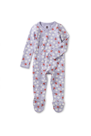 Tea Collection Side Snap Footied Romper - Ladybug - Product Mini Image