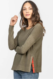 Lilla P Side Snap Pullover Sweater - Product Mini Image