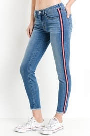 just black Side Stripe Jeans - Product Mini Image