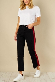 Jovonna  Side Stripe Jeans - Product Mini Image