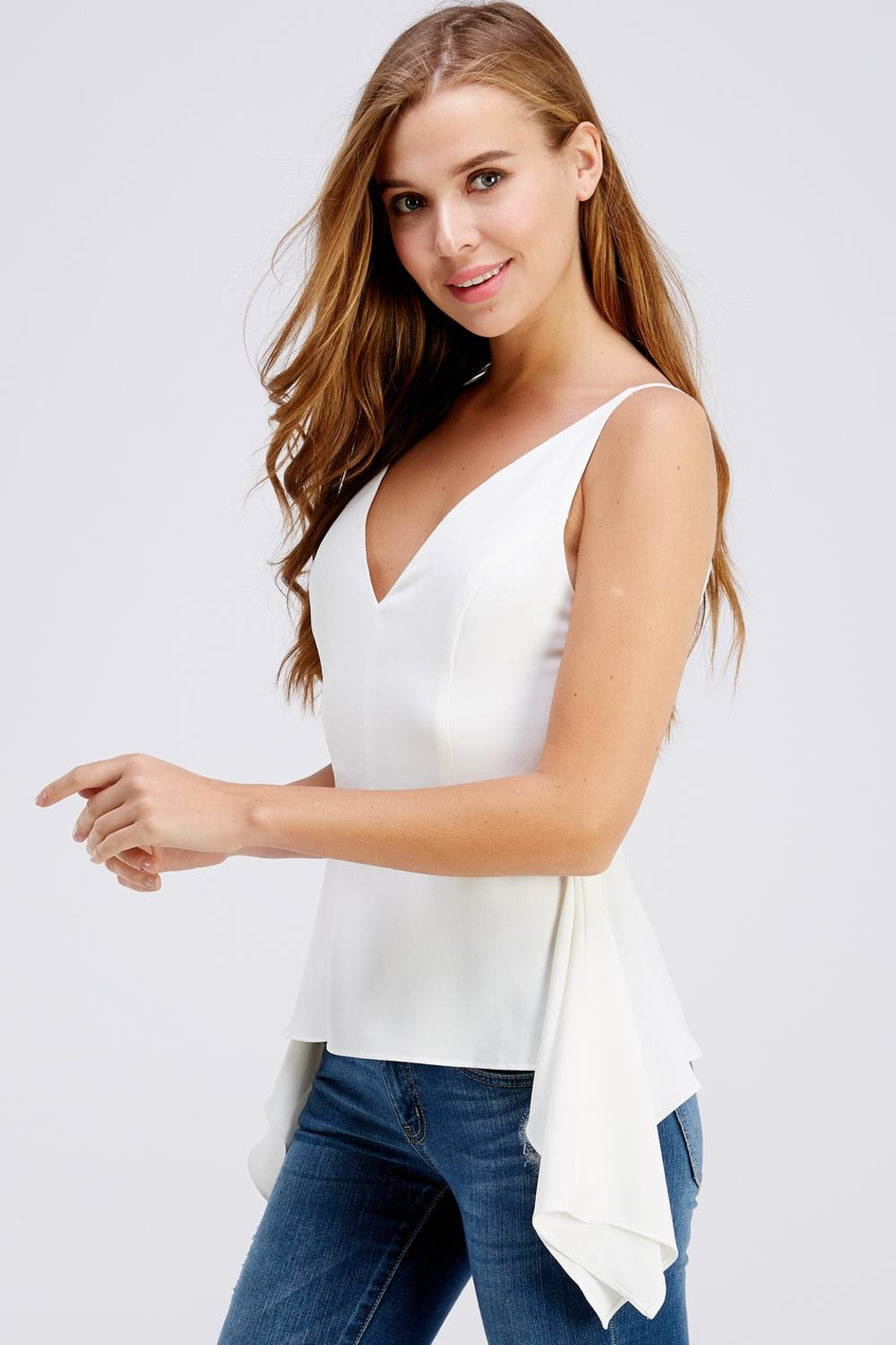 Do & Be Side Tail Blouse - Side Cropped Image