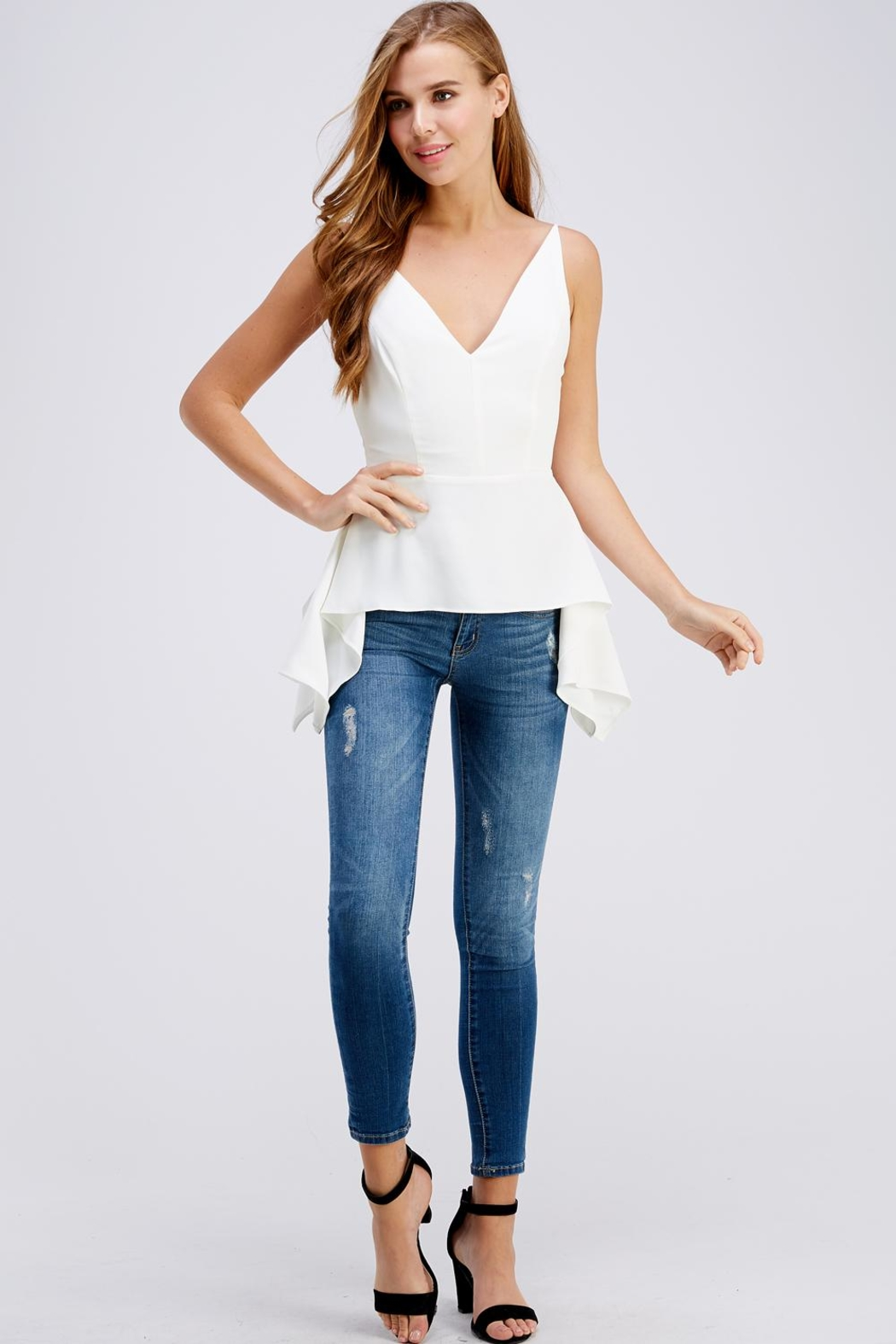 Do & Be Side Tail Blouse - Front Full Image