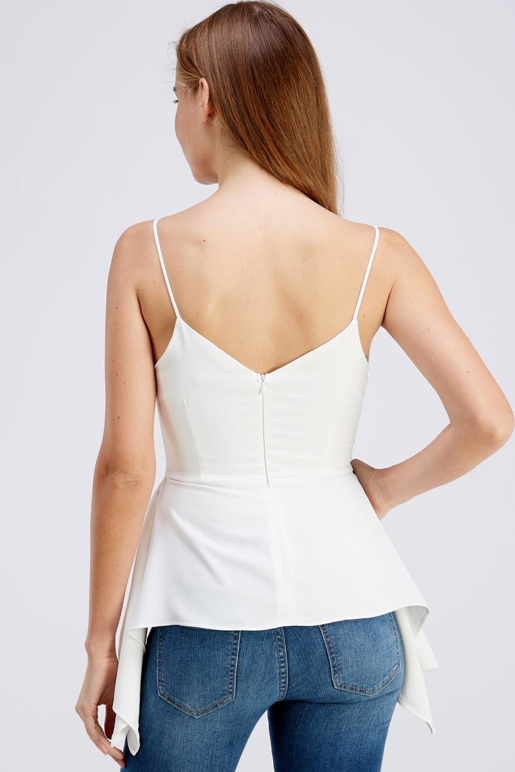 Do & Be Side Tail Blouse - Back Cropped Image
