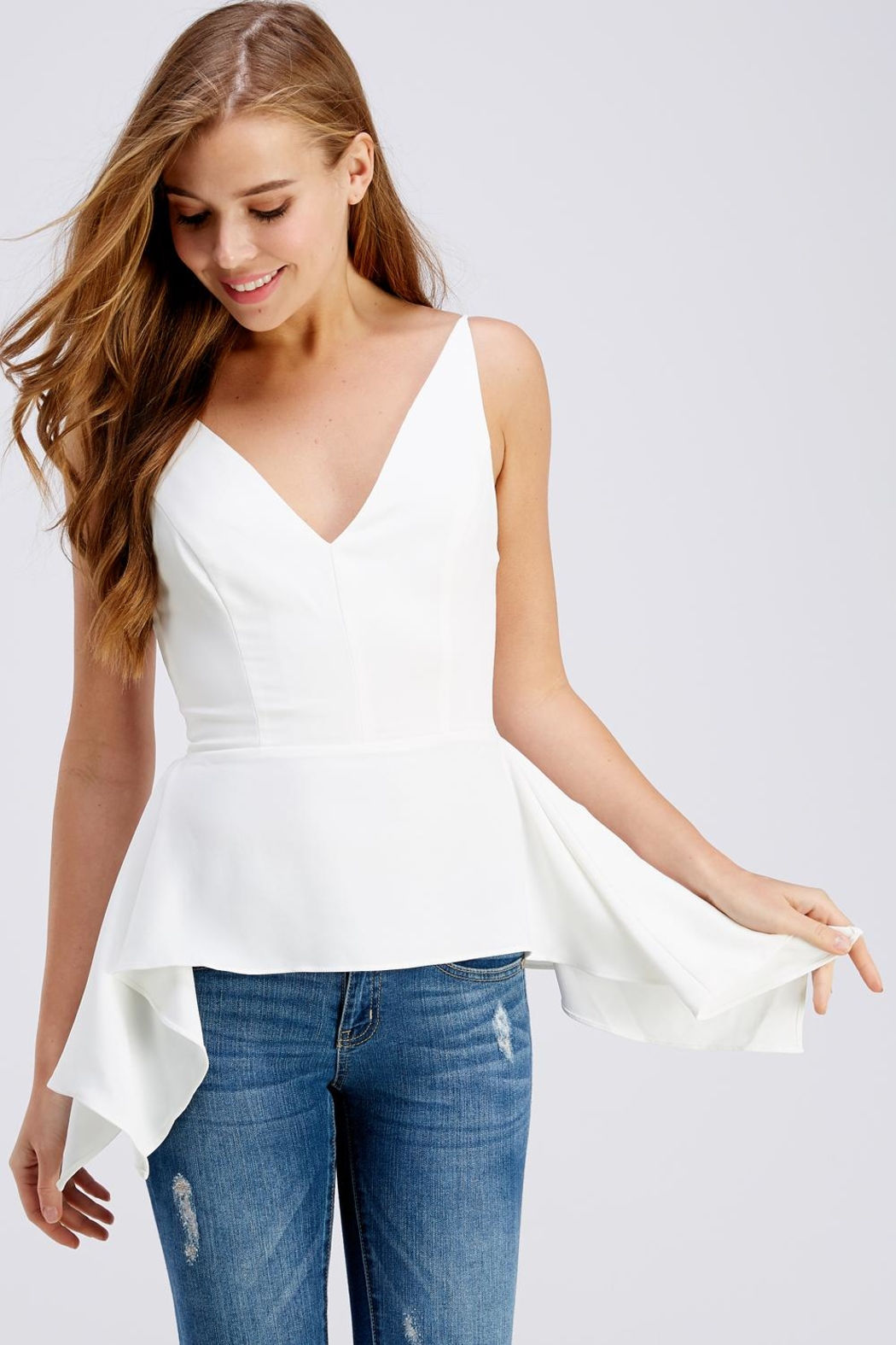 Do & Be Side Tail Blouse - Main Image