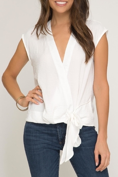 She + Sky Side Tie Blouse - Product List Image