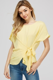 Naked Zebra Side Tie Blouse - Front cropped