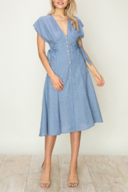 HYFVE Side Tie Denim Dress - Product Mini Image