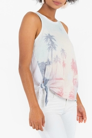 White Crow Side-Tie Graphic Tank - Front full body