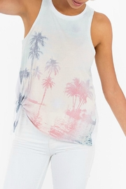 White Crow Side-Tie Graphic Tank - Product Mini Image