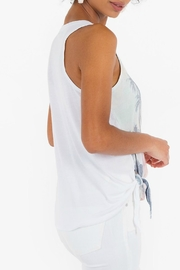 White Crow Side-Tie Graphic Tank - Side cropped